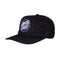 Black Linear Dot Santa Cruz Strapback Hat