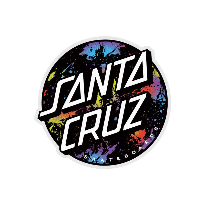 Dot Splatter Santa Cruz Skateboard Sticker