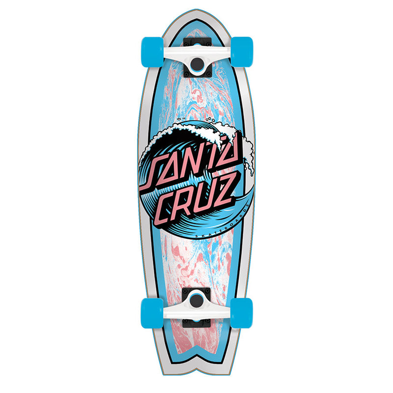 Wave Dot Mini Shark Santa Cruz Cruzer Skateboard
