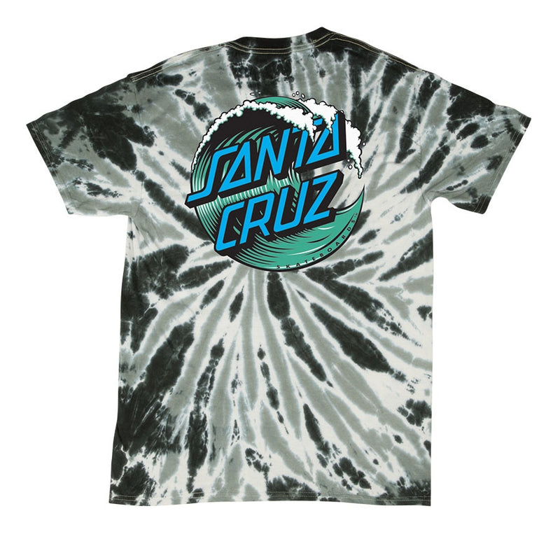 Santa Cruz Youth Wave Dot Tee - Twist Black
