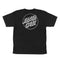 Black Opus Dot Youth Kids Santa Cruz Skateboard T-Shirt Back