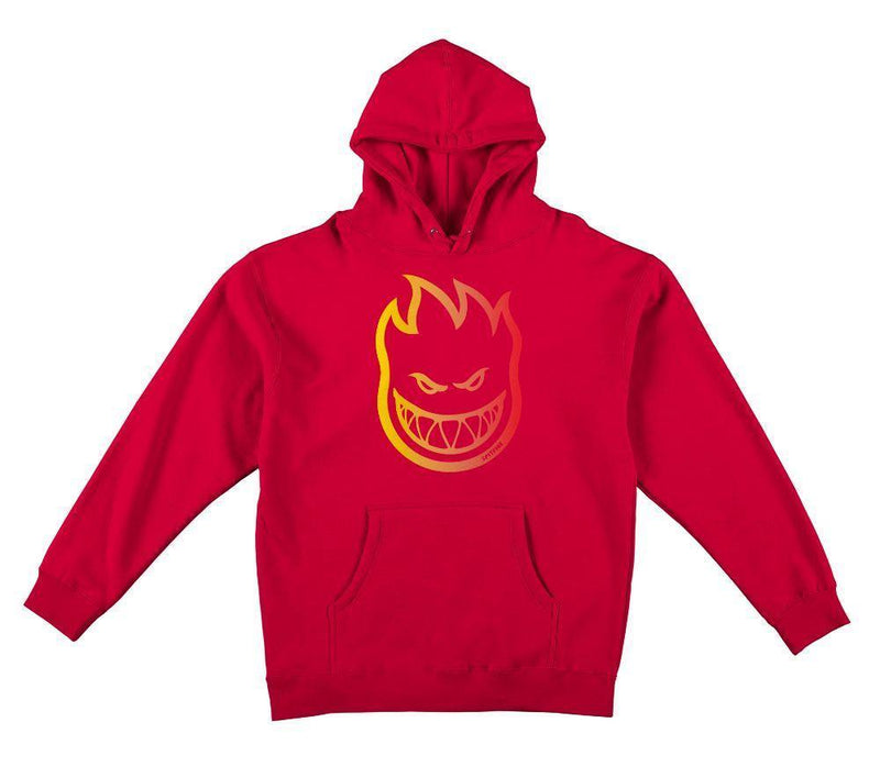 Spitfire Bighead Outline Fill Fade Pullover Hoodie - Red/Yellow