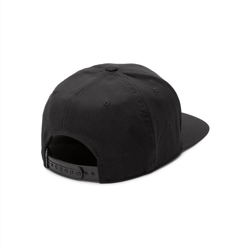 Black 110 Stone Tech Volcom Snapback Hat Back