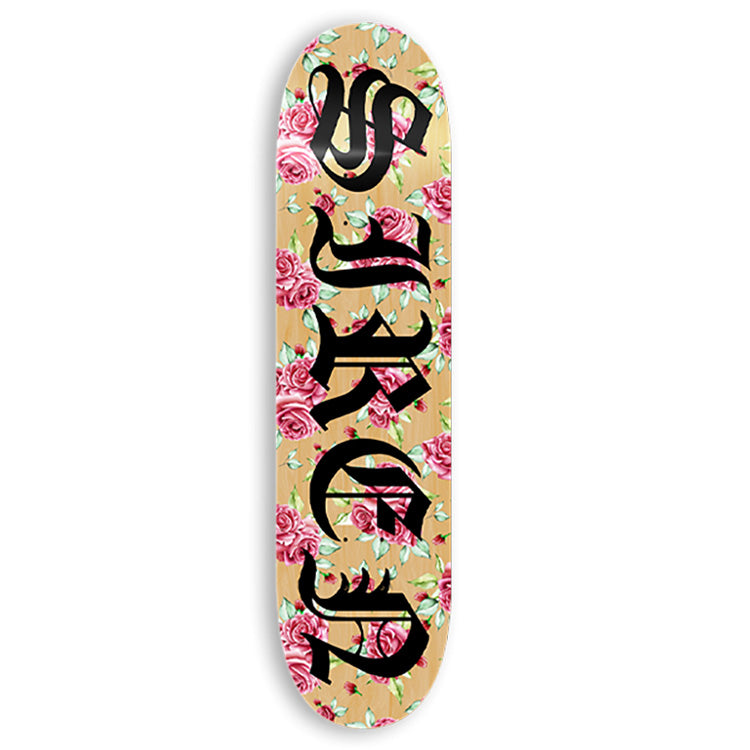 Siren Old Rose Skateboard Deck - Assorted Stains