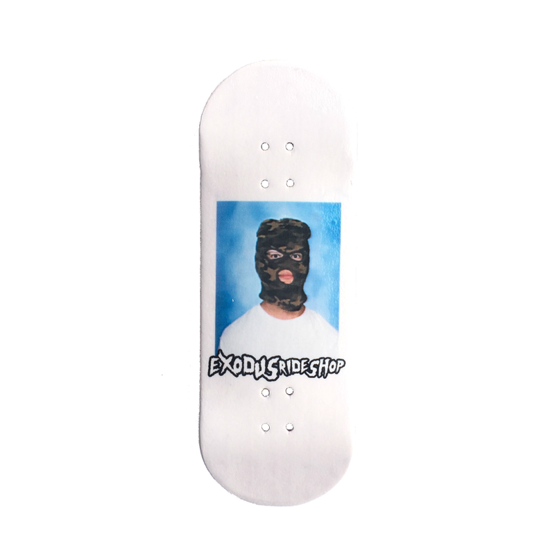 Exodus Skimask X-Wide 33mm Fingerboard Deck - White
