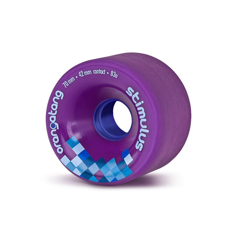 Orangatang Stimulus 70mm Longboard Wheels- Purple