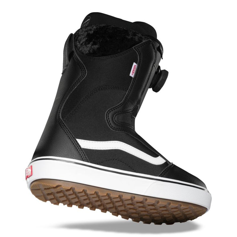 Black/White 2021 Women's Encore OG Vans BOA Snowboard Boots Side