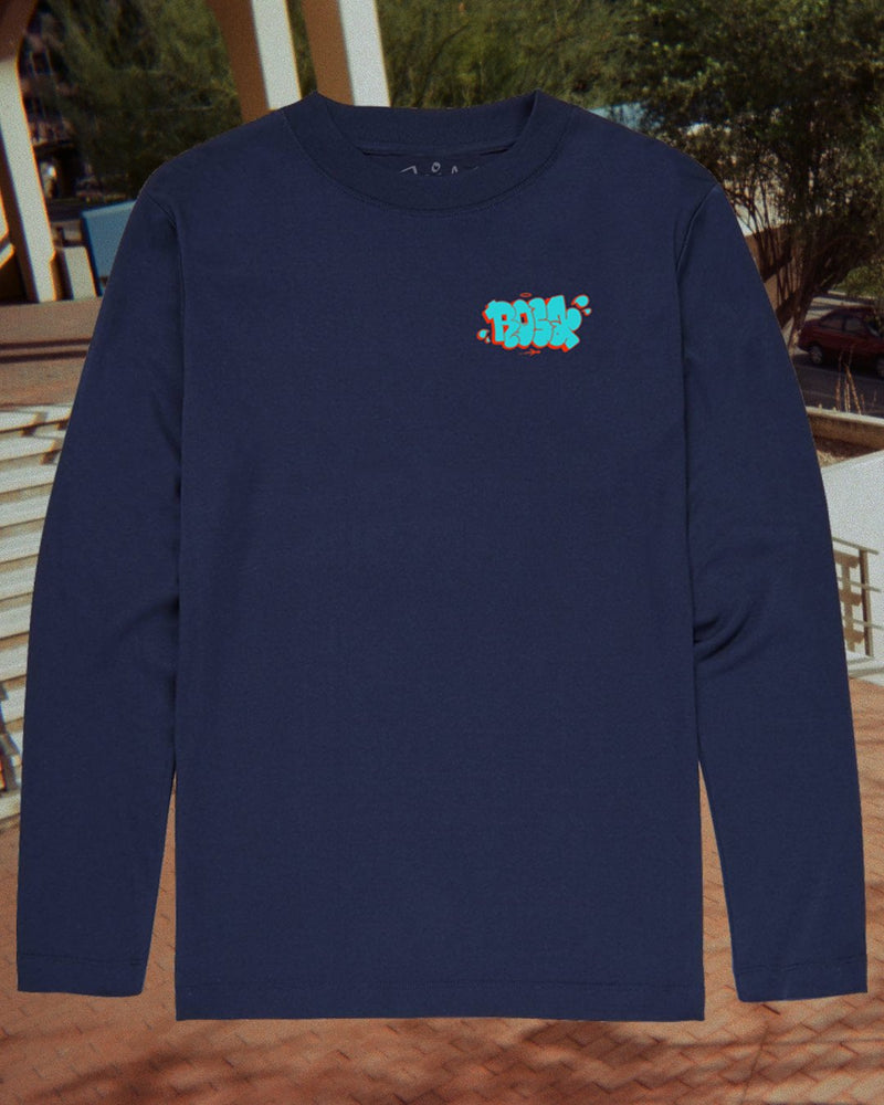 Rosa Throwie Long Sleeve Tee - Navy