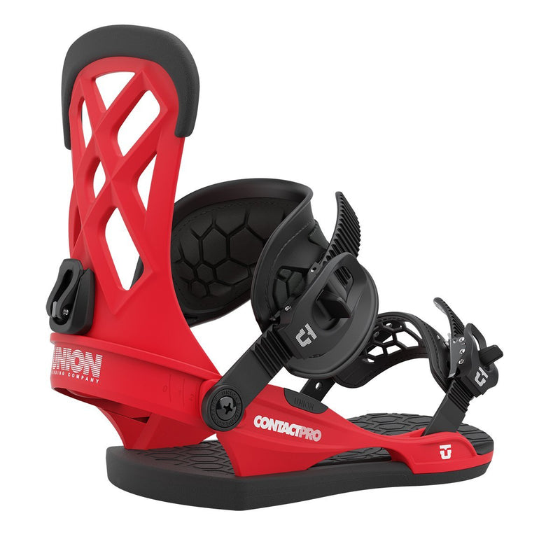 Red 2021 Union Contact Pro Snowboard Bindings