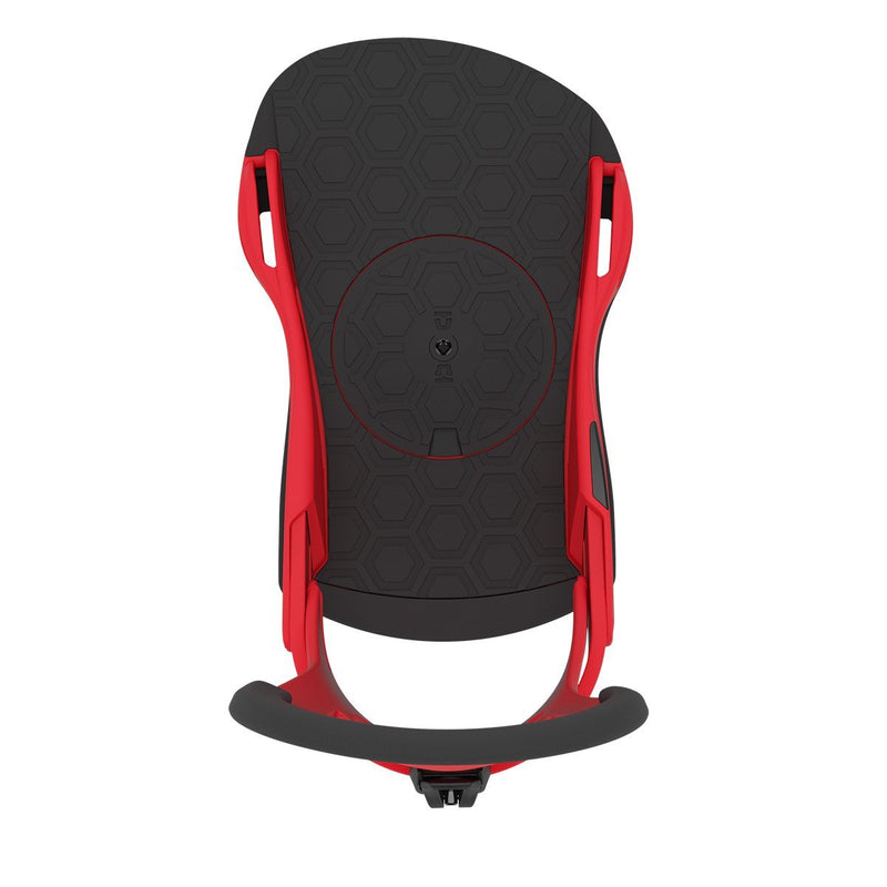 Red 2021 Union Contact Pro Snowboard Bindings Top