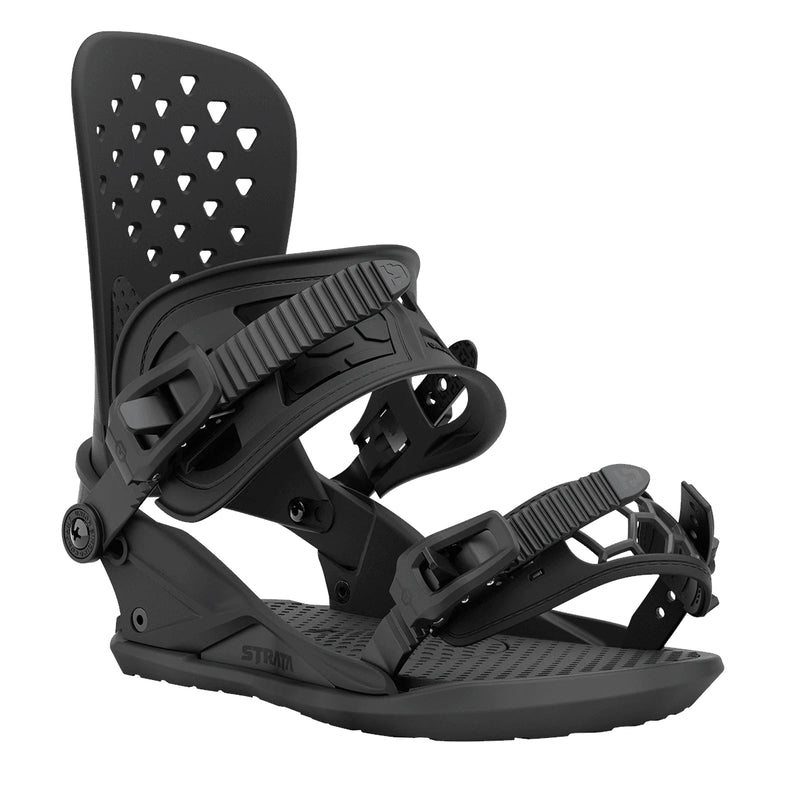 Black 2021 Strata Union Snowboard Bindings Front