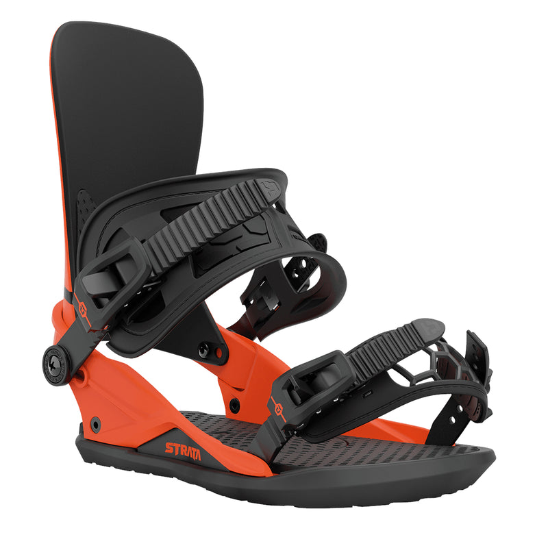 Union Orange 2021 Union Strata Snowboard Bindings Front