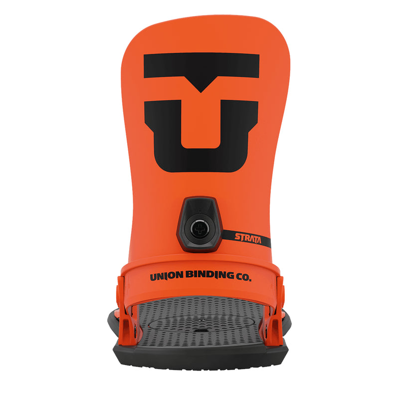 Union Orange 2021 Union Strata Snowboard Bindings Back