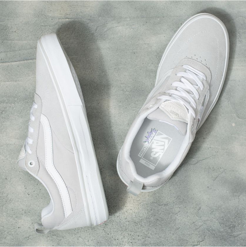 Grey Chambray Kyle Walker Pro Vans Skateboarding shoe Top