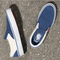 STY Navy Classic White Vans Slip On Shoes