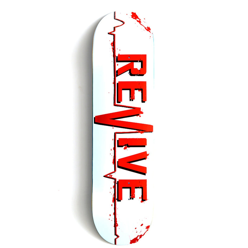 Revive White Lifeline Skateboard Deck