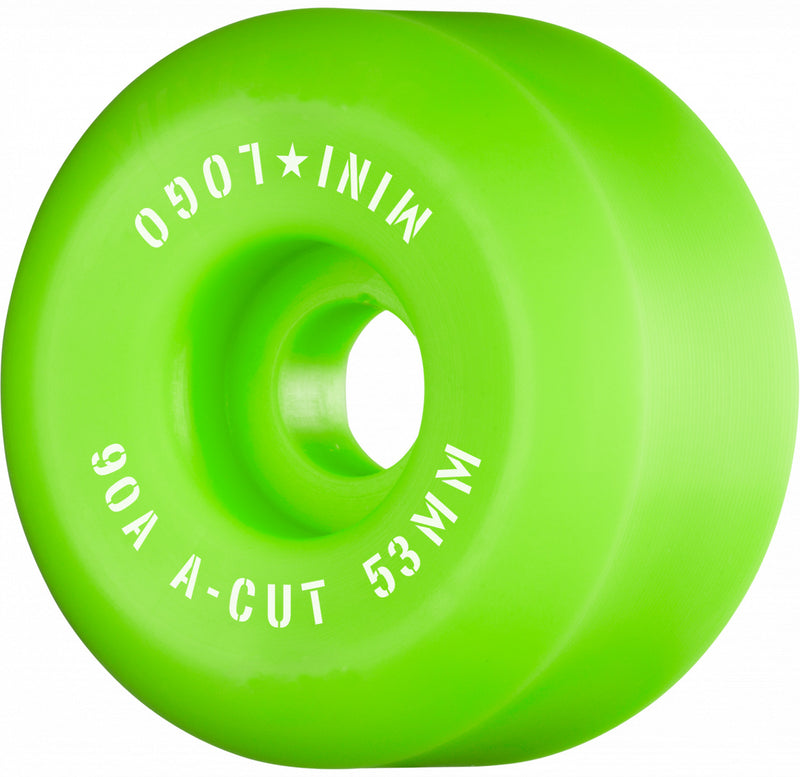 Green 90A Mini Logo Hybrid Skateboard Wheels