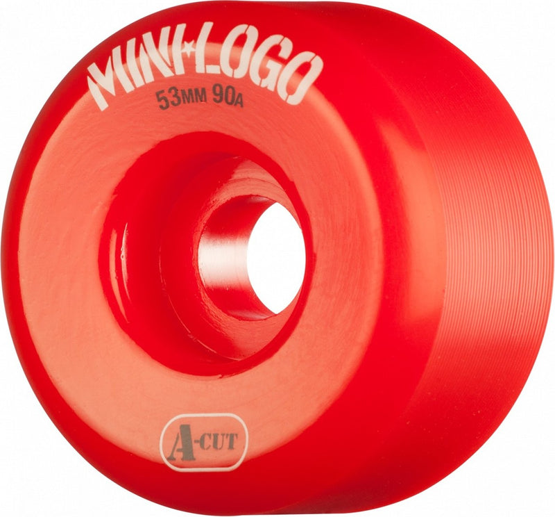 Mini Logo A-Cut 90a Skateboard Wheels - Red