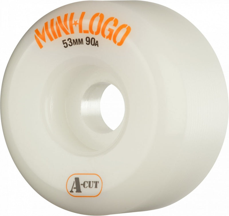 Mini Logo A-Cut 90a Skateboard Wheels - White