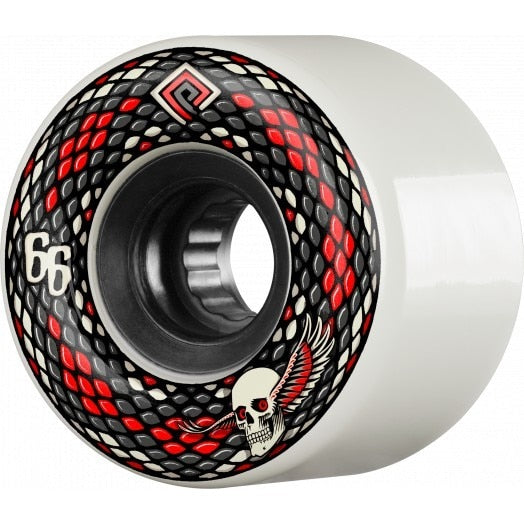 Powell Peralta Snakes  75a Skateboard Wheels - White