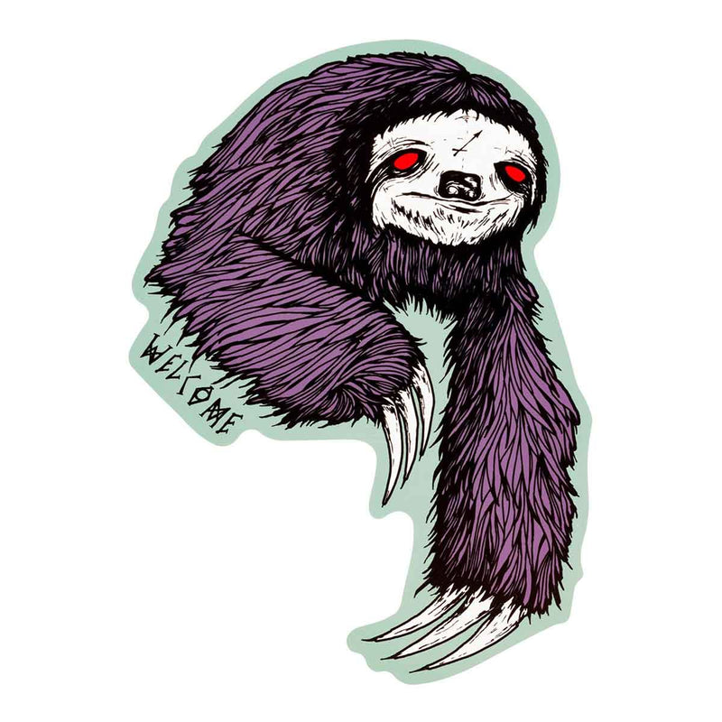 Sloth Welcome Skateboard Sticker