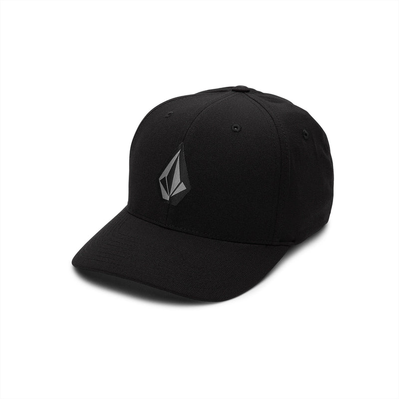 Black XFIT Fitted Volcom Stone Tech Hat