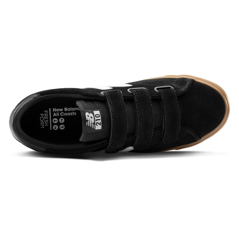 Black and Gum AM210NVW NB Numeric Skateboarding Shoe Top