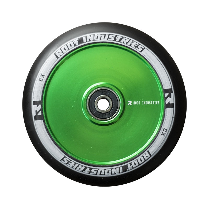 Root Industries Air Scooter Wheels - Black/Green (Set of 2)