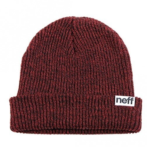 Neff Fold Heather Beanie - Red/Black