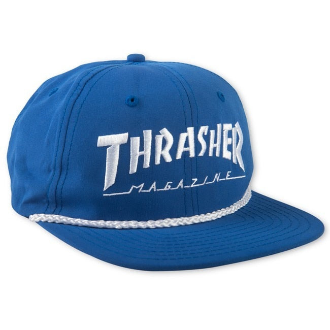 Thrasher Rope Snapback - Blue/White