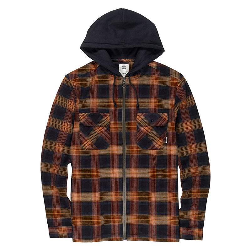 Element Skateboards Wentworth Hooded Flannel - Gold Brown