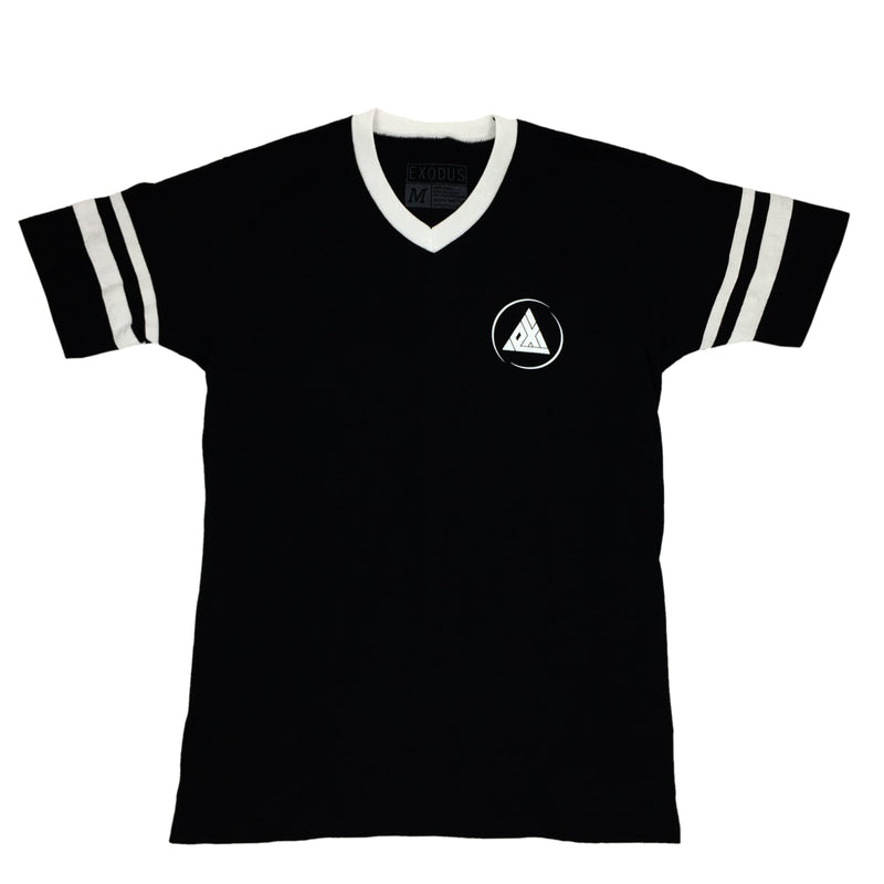 Exodus Offset Circle Logo Striped Jersey -  Black/White