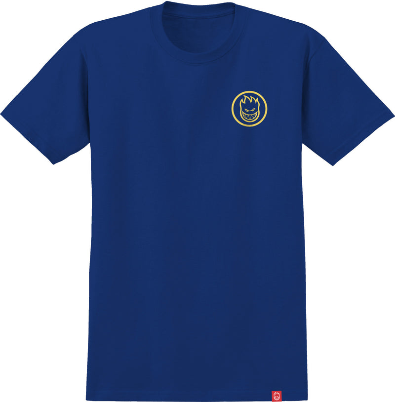 Royal Blue/Yellow Classic Swirl Boys Youth Spitfire Wheels T-Shirt