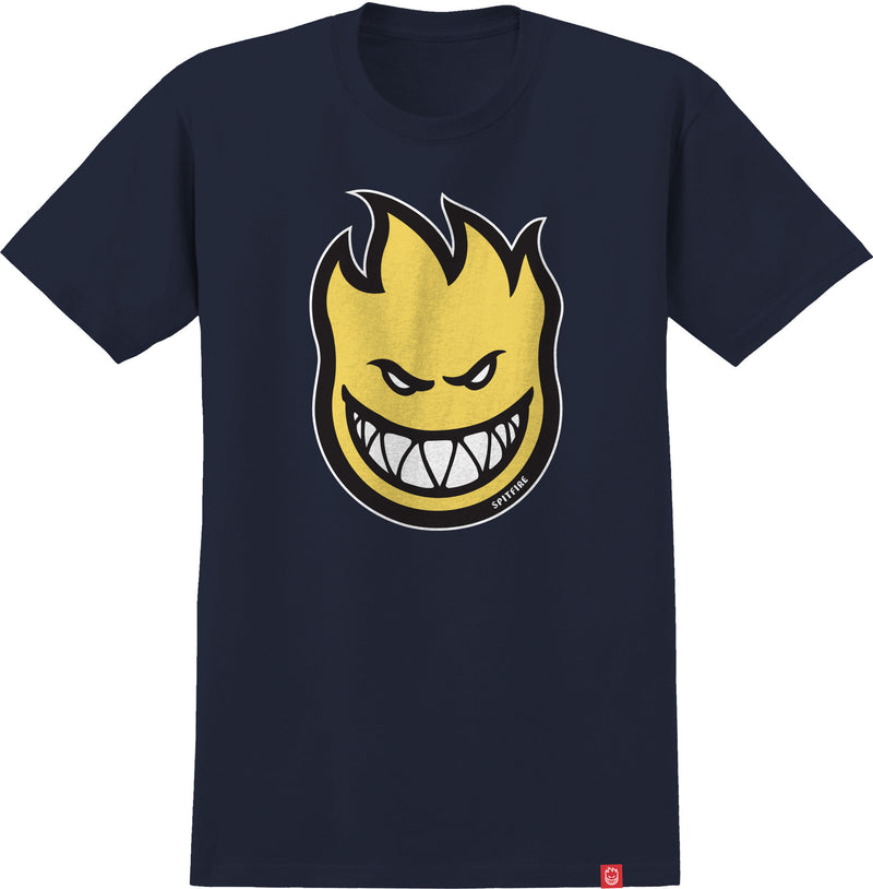 Navy and Yellow Bighead Spitfire Wheels T-Shirt