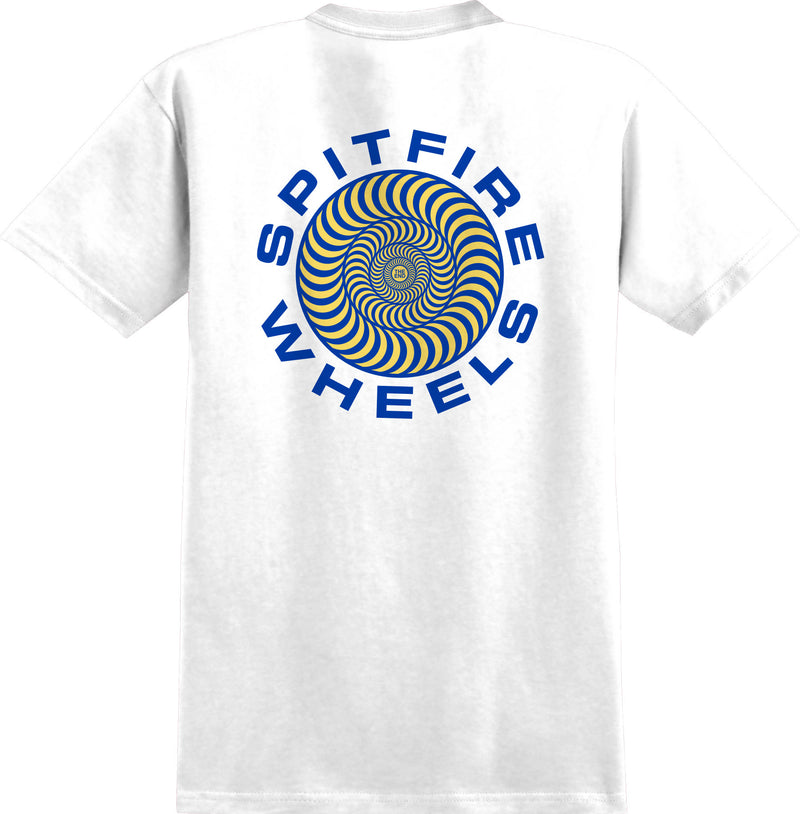 White Classic 87' Swirl Spitfire Wheels T-shirt Back