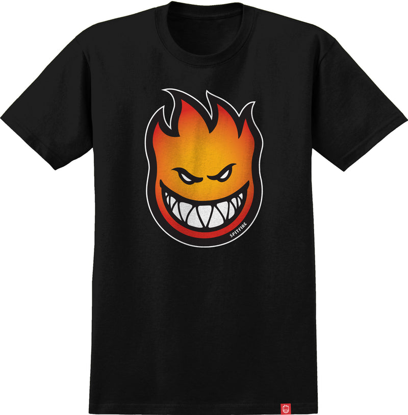 Black and Orange Bighead Fill Spitfire Wheels T-Shirt