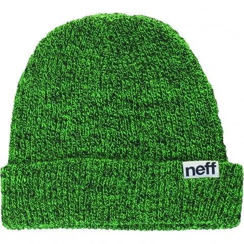 Neff Fold Heather Beanie - Black/Slime
