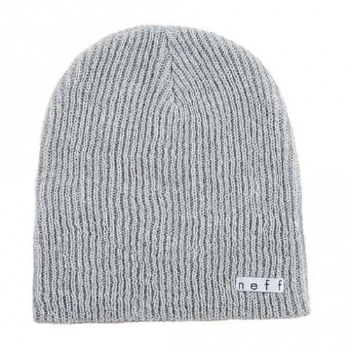 Neff Daily Heather Beanie - Grey/White