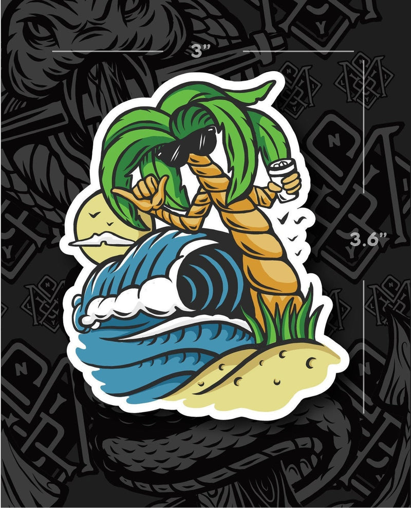 Palm Tree Shaka MSX Grafix Sticker