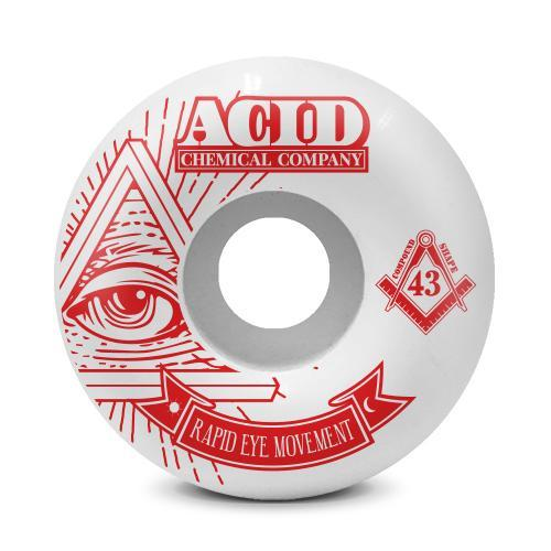 Pyramid Red REM Formula Acid Chemical co Skateboard Wheels