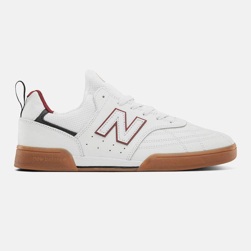 White Leather NM288SWL NB Numeric Skateboard Shoe
