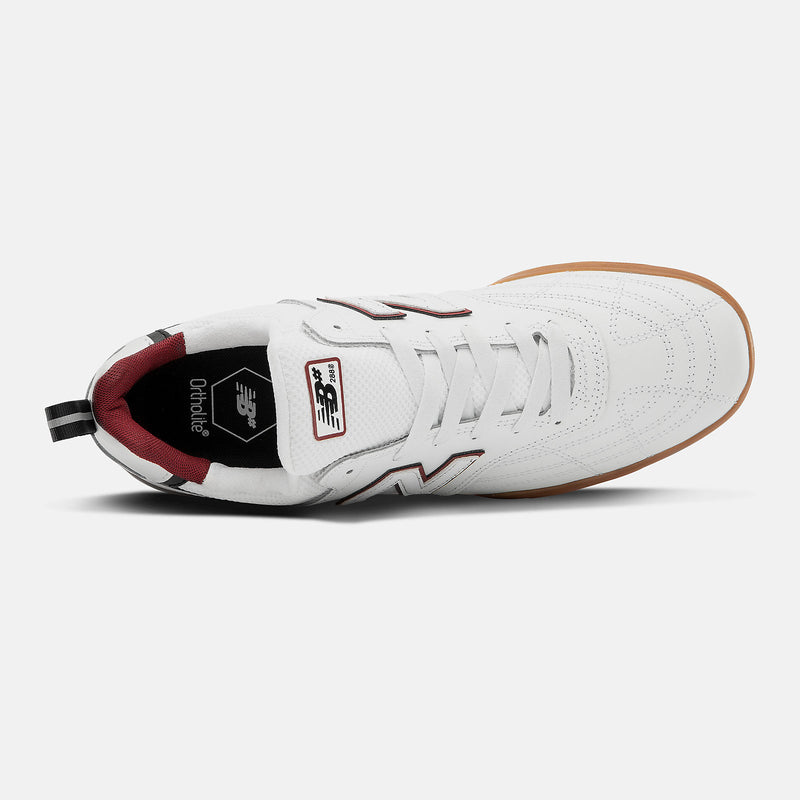White Leather NM288SWL NB Numeric Skateboard Shoe Top