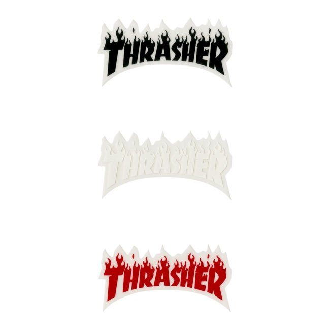 Small Flame Thrasher Magazine Sticker