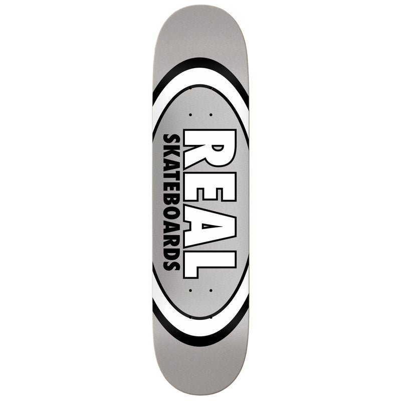 Grey Classic Oval Real Skateboard deck