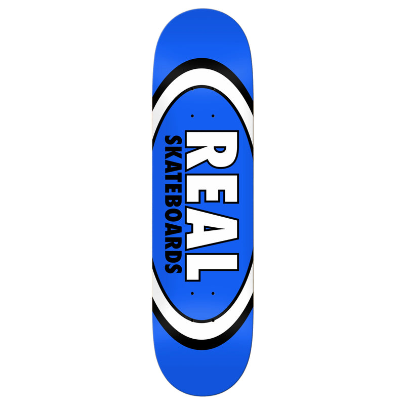 Blue Classic Oval Real Skateboard deck
