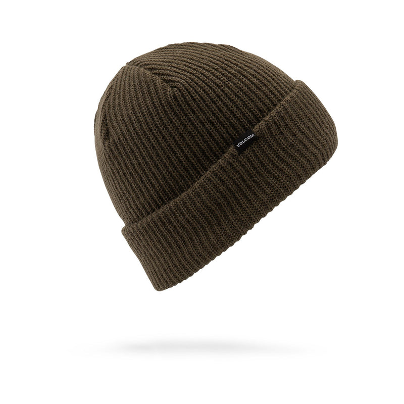 Military Black Sweep Lined Volcom Beanie