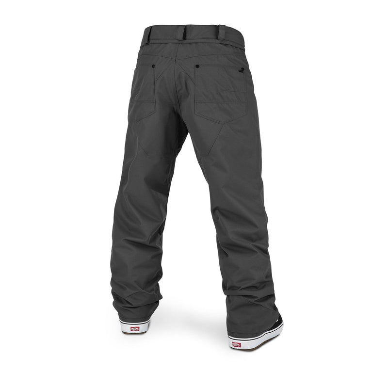 Dark Grey Carbon Volcom Snowboard Pants Back
