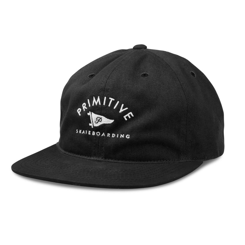 Primitive Archie Unstructured 6 Panel  Hat - Black