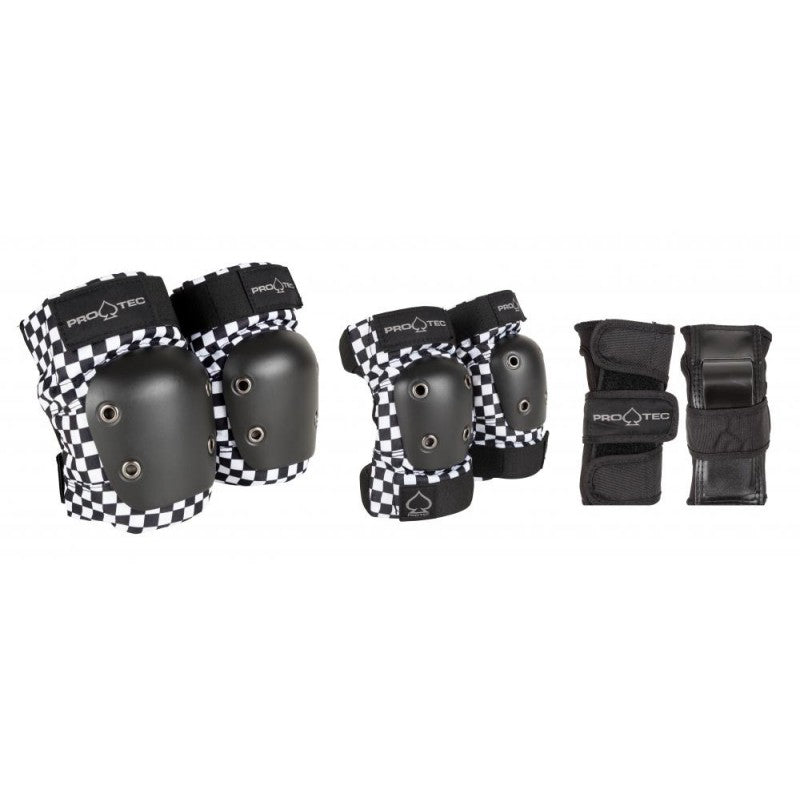 Checkerboard 3-pack Junior ProTec Pad Set