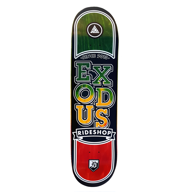Exodus Stacked Fade Deck - Rasta
